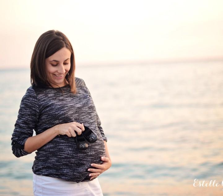 Photos de grossesse en couple à Carry le Rouet - Géraldine et Clément |Photographe maternité Bouches-du-Rhône
