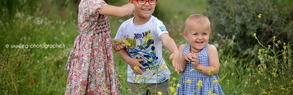 Photographe enfants et famille à Carry le Rouet | Ronan, Lucille et Emeline
